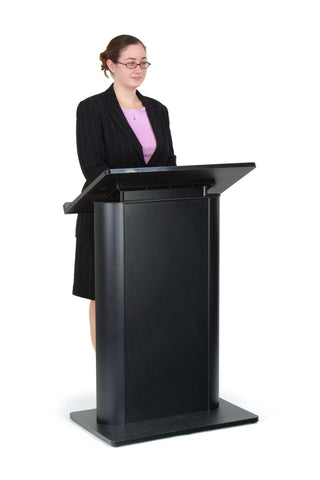 Height Adjustable Podium Color Black-Height Adjustable Pulpits, Podiums and Lecterns-Podiums Direct