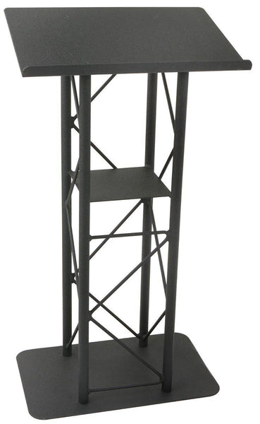 Metal Truss Lectern 4 Post Straight. Black