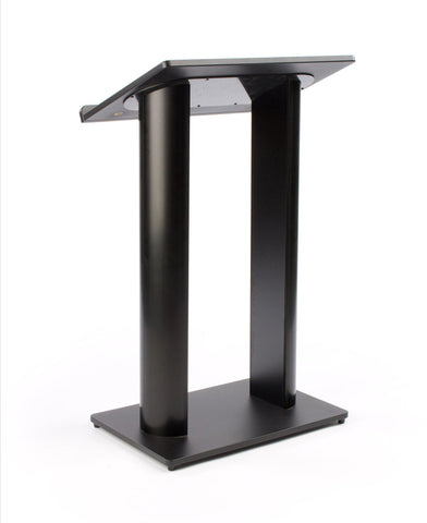Metal Truss Lectern Contemporary Black Aluminum