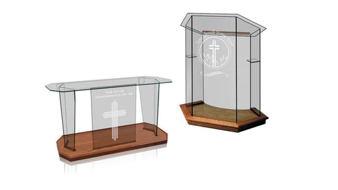 Church Pulpit Set NC10/NC10G FOUNDATION-Pulpit Sets-Podiums Direct
