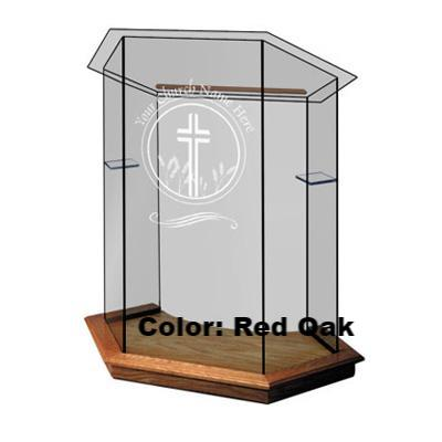 Glass Pulpit NC10/NC10G Prestige FOUNDATION-Glass Pulpits, Podiums and Lecterns and Communion Tables-Podiums Direct