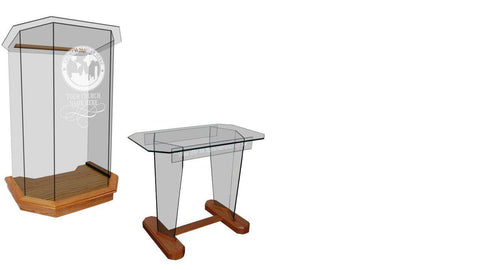 Church Pulpit Set NC26/NC26G Prestige 5 PANEL-Pulpit Sets-Podiums Direct