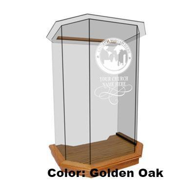 Glass Pulpit NC26/NC26G Prestige 5 PANEL-Glass Pulpits, Podiums and Lecterns and Communion Tables-Podiums Direct