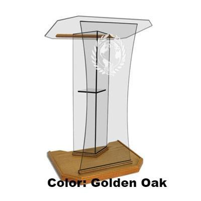 Glass Pulpit NC2S/NC2SG Prestige The SPEAKER-Glass Pulpits, Podiums and Lecterns and Communion Tables-Podiums Direct