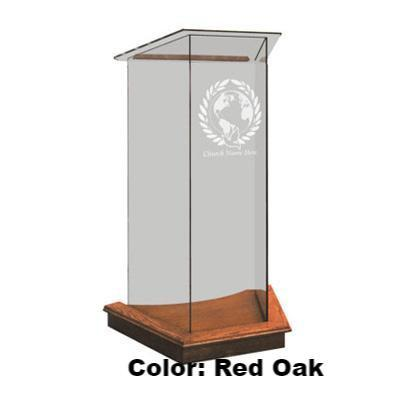 Glass Pulpit NC2/NC2G Prestige The LECTERN-Glass Pulpits, Podiums and Lecterns and Communion Tables-Podiums Direct