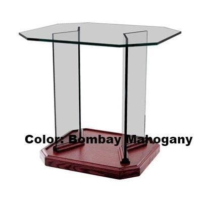Glass Communion Table NC3/NC3G Prestige End Table-Glass Pulpits, Podiums and Lecterns and Communion Tables-Podiums Direct
