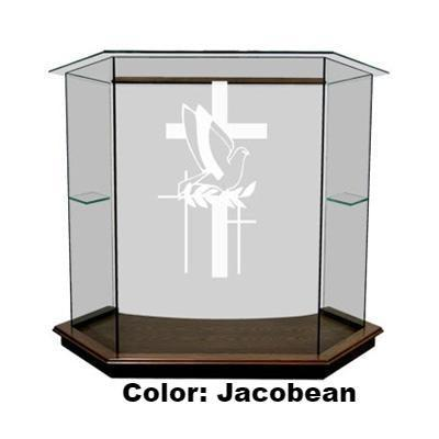 Glass Pulpit NC8/NC8G Prestige The PRESTIGE-Glass Pulpits, Podiums and Lecterns and Communion Tables-Podiums Direct