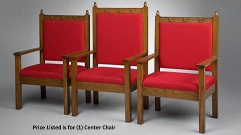 "Clergy Church Chair NO 200 Series 48"" Height Center Chair-Clergy Church Chairs-Podiums Direct"