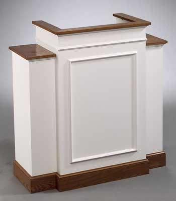 Church Wood Pulpit Wing NO 810W-Church Solid Wood Pulpits, Podiums and Lecterns-Podiums Direct
