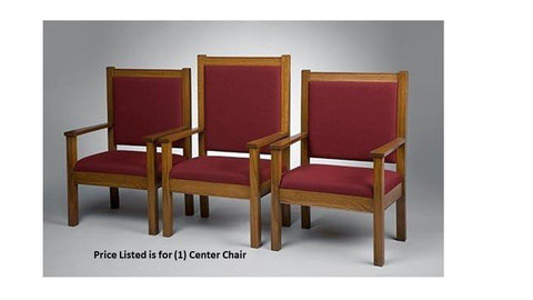 "Clergy Church Chair NO 400 Series 48"" Height Center Chair-Clergy Church Chairs-Podiums Direct"