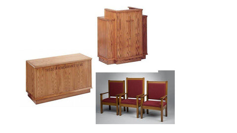 Church Pulpit Set NO 400W-Pulpit Sets-Podiums Direct