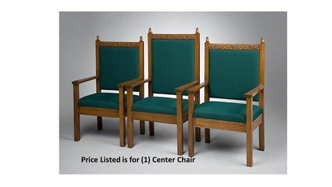"Clergy Church Chair NO 500 Series 48"" Height Center Chair-Clergy Church Chairs-Podiums Direct"