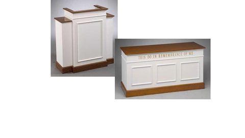 Church Pulpit Set NO 810W-Pulpit Sets-Podiums Direct