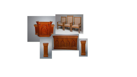 Church Pulpit Set NO 900W.  FREE SHIPPING!