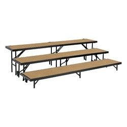 RS3LHB 3 Level Riser W/Hardboard By National Public Seating