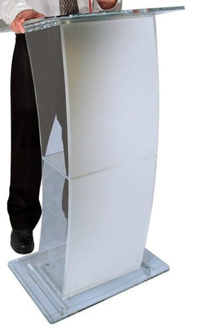 Acrylic Lectern Eclipse-Acrylic Pulpits, Podiums and Lecterns-Podiums Direct