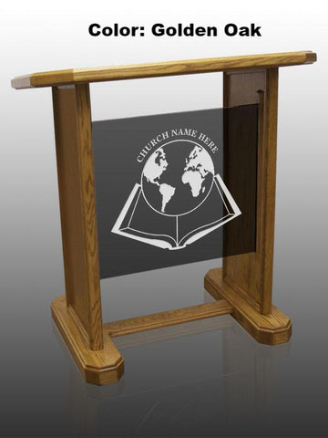 Glass Pulpit NC13/NC13G Prestige NEOS-Smoked Glass-Glass Pulpits, Podiums and Lecterns and Communion Tables-Podiums Direct