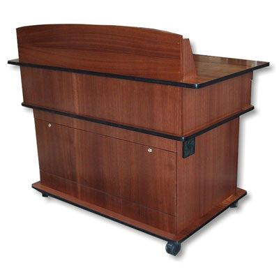 Handcrafted Solid Hardwood Lectern Fortress-Multimedia Podiums and Lecterns-Podiums Direct