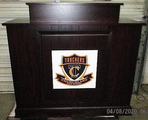 Handcrafted Solid Hardwood Lectern Colonial-Handcrafted Solid Hardwood Pulpits, Podiums and Lecterns-Front View--Podiums Direct