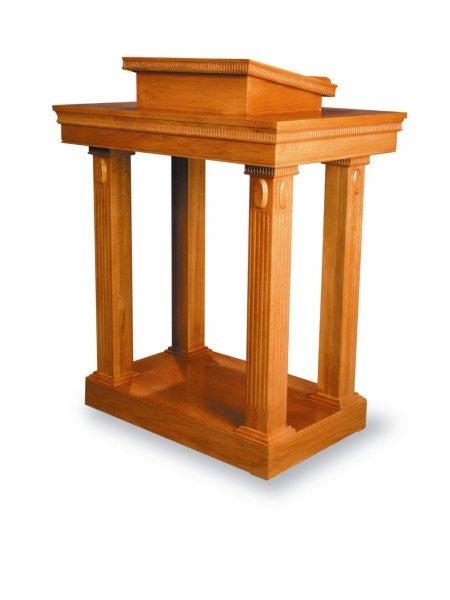 Church wood pulpit podium lectern open tiered top