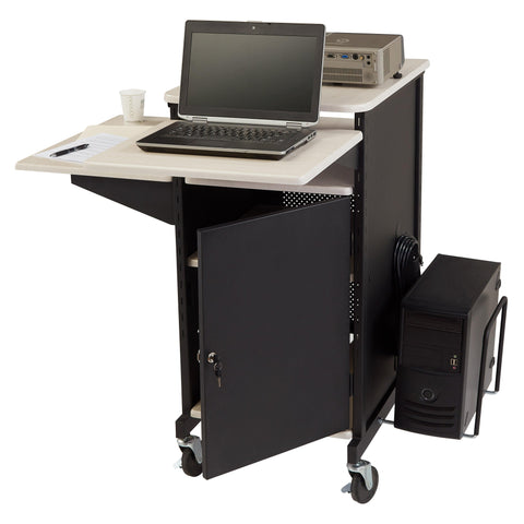 Presentation AV Cart PRC450 Oklahoma Sound Jumbo Plus-Presentation AV Tablet Laptop Carts and Plasma LCD Stands-Podiums Direct