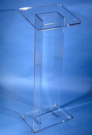 Acrylic Lectern La Petite-Clear-Acrylic Lecterns-Podiums Direct