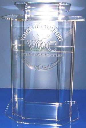 Acrylic Lectern Model D-Acrylic Lecterns-Podiums Direct