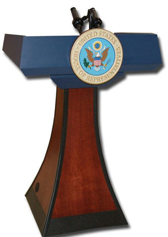 Handcrafted Solid Hardwood Lectern PD Presidential Non-Sound-Handcrafted Solid Hardwood Pulpits, Podiums and Lecterns-Podiums Direct