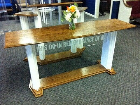 705W Proclaimer Acrylic and Wood Communion Table. FREE SHIPPING!