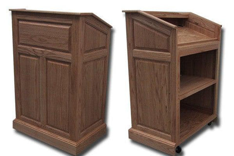 Handcrafted Solid Hardwood Lectern Colonial-Handcrafted Solid Hardwood Pulpits, Podiums and Lecterns-Podiums Direct