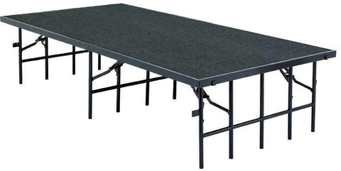 S488C Portable Stage W/Carpet By National Public Seating
