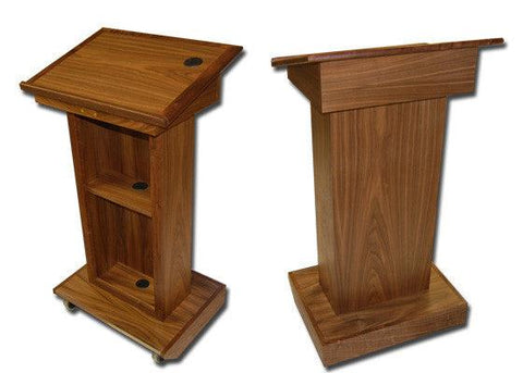Handcrafted Solid Hardwood Lectern Royal-Handcrafted Solid Hardwood Pulpits, Podiums and Lecterns-Podiums Direct
