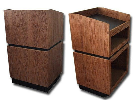 Handcrafted Solid Hardwood Lectern Landmark-Handcrafted Solid Hardwood Pulpits, Podiums and Lecterns-Podiums Direct