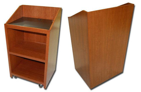 Handcrafted Solid Hardwood Lectern Spartan-Handcrafted Solid Hardwood Pulpits, Podiums and Lecterns-Podiums Direct