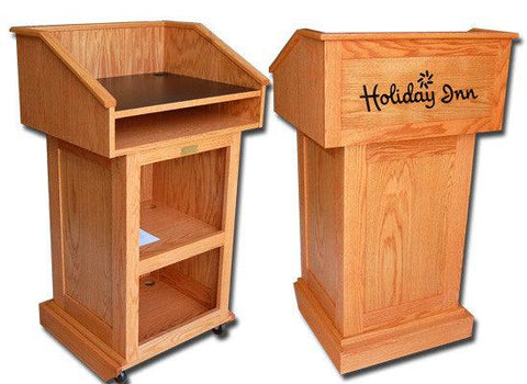 Handcrafted Solid Hardwood Lectern Celebrity-Handcrafted Solid Hardwood Pulpits, Podiums and Lecterns-Podiums Direct