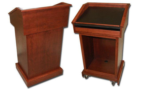 Handcrafted Solid Hardwood Lectern Conquest-Handcrafted Solid Hardwood Pulpits, Podiums and Lecterns-Podiums Direct
