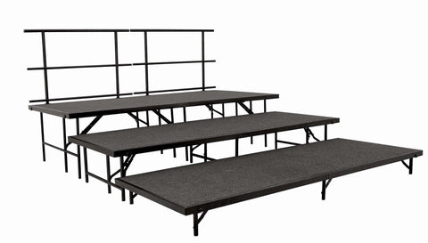 SST48C Portable Stage Set W/Carpet By National Public Seating