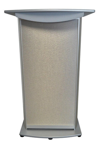 Contemporary Lectern and Podium H2 Standard Aluminum Lectern-Front-Contemporary Lecterns and Podiums-Podiums Direct