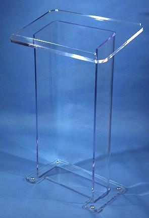 Acrylic Lectern Model S-Acrylic Lecterns-Podiums Direct