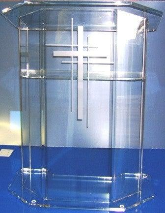 Acrylic Lectern Model E-Acrylic Lecterns-Podiums Direct