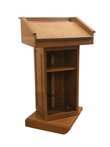 Handcrafted Solid Hardwood Lectern CLR235-S Counselor Swivel - FREE SHIPPING!