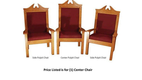 "Clergy Church Chair TPC-296C/NO 8200 Series 52"" Height Center Pulpit Chair-Clergy Church Chairs-Podiums Direct"