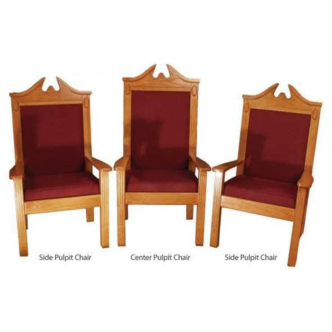 "Clergy Church Chair TPC-296C/NO 8200 Series 52"" Height Center Pulpit Chair"