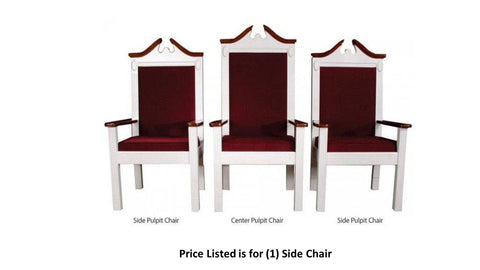 "Clergy Church Chair TPC-603S Series 48"" Height Side Pulpit Chair-Clergy Church Chairs-Podiums Direct"
