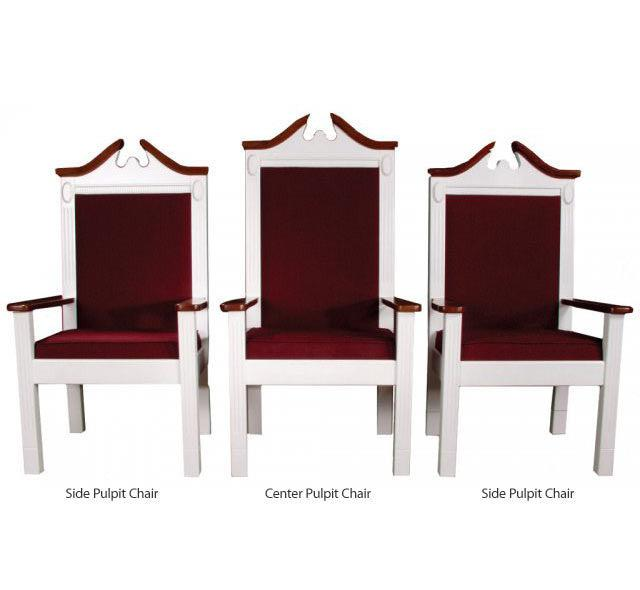 clergy church chair tpc 603s series 48 height side pulpit chair