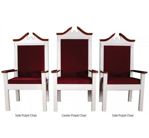 "Clergy Church Chair TPC-603C Series 52"" Height Center Pulpit Chair"