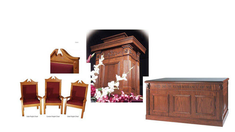 Church Pulpit Set TSP-120-Pulpit Sets-Podiums Direct