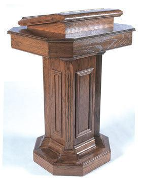 Church Wood Pulpit Pedestal TSP-180-Church Solid Wood Pulpits, Podiums and Lecterns-Podiums Direct