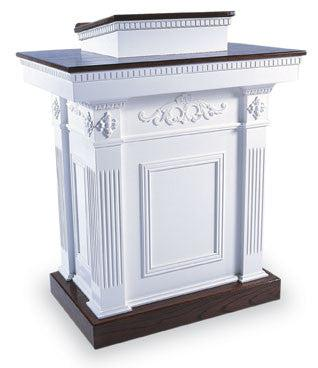 Church Wood Pulpit Colonial Tiered TSP-620-Church Solid Wood Pulpits, Podiums and Lecterns-Podiums Direct