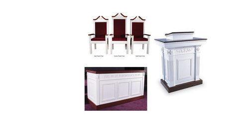 Church Pulpit Set TSP-620. FREE SHIPPING!